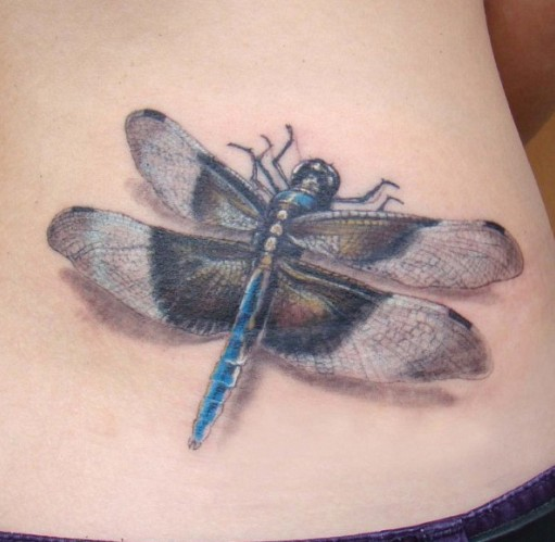 Realistic Dragonfly Tattoos Great realistic dragon...